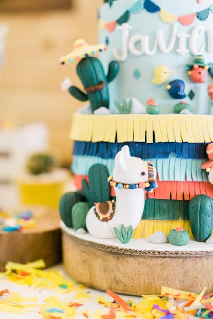 Fiesta Cake from a Mexican Birthday Fiesta on Kara's Party Ideas | KarasPartyIdeas.com