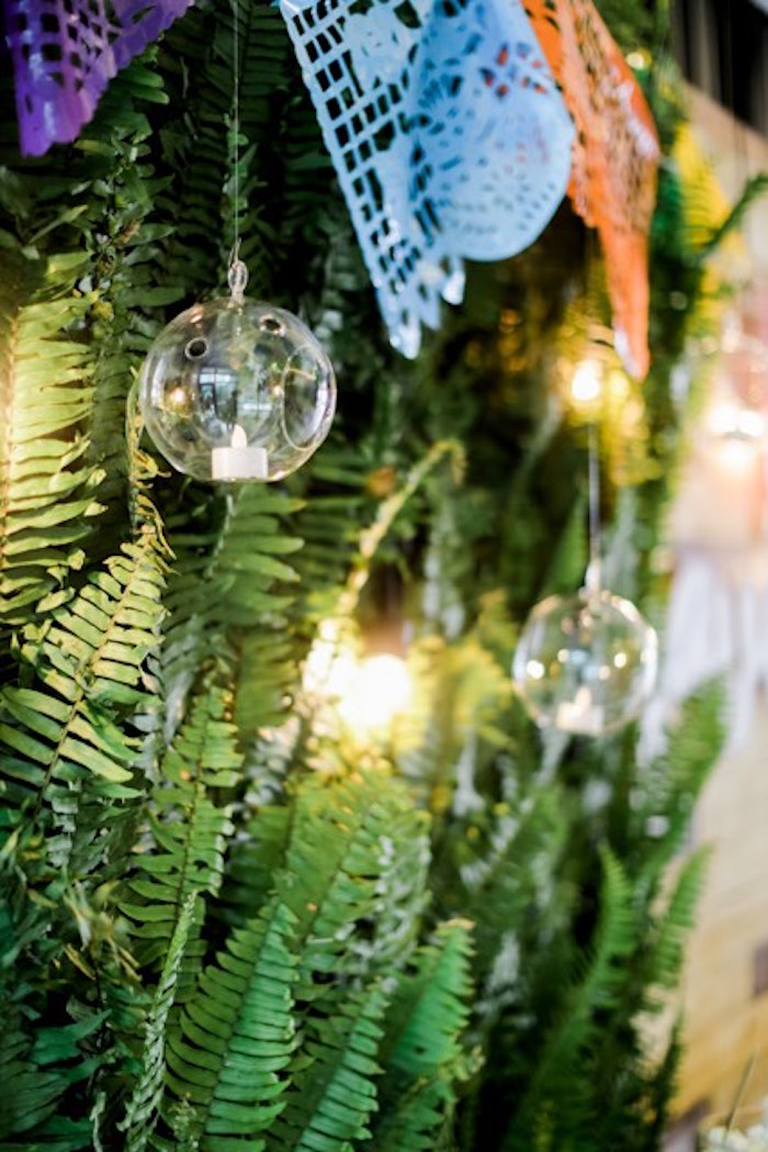 Glass Bauble Candle from a Mexican Birthday Fiesta on Kara's Party Ideas | KarasPartyIdeas.com