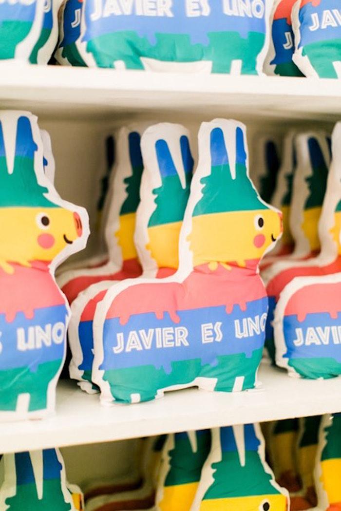 Plush Llama Favors from a Mexican Birthday Fiesta on Kara's Party Ideas | KarasPartyIdeas.com