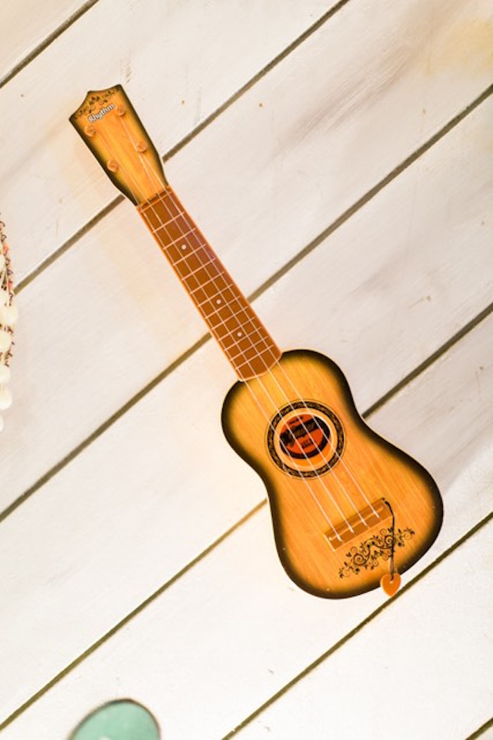 Guitar Prop Decoration from a Mexican Birthday Fiesta on Kara's Party Ideas | KarasPartyIdeas.com