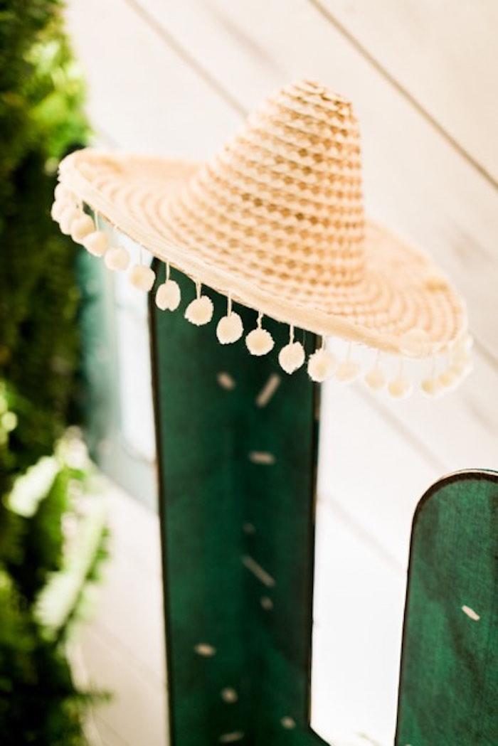 Sombrero from a Mexican Birthday Fiesta on Kara's Party Ideas | KarasPartyIdeas.com