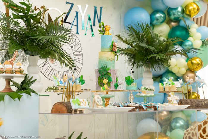 Jungle Party Table from a Modern Jungle Birthday Party on Kara's Party Ideas | KarasPartyIdeas.com (22)