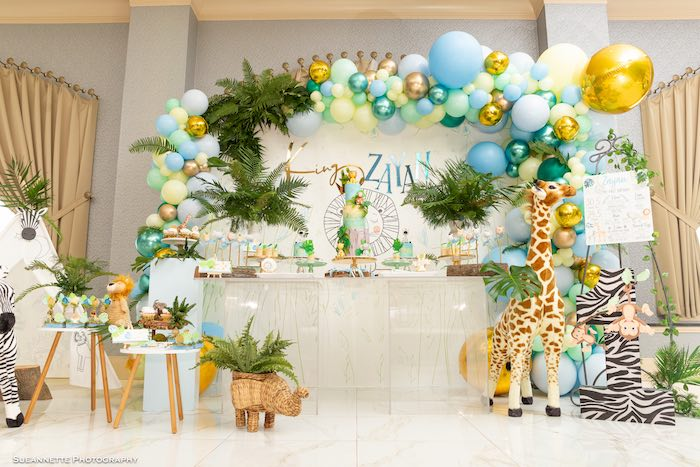 Modern Jungle Birthday Party on Kara's Party Ideas | KarasPartyIdeas.com (20)
