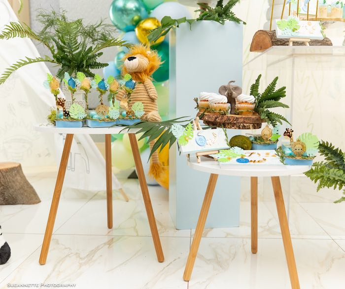 Jungle Sweet Tables from a Modern Jungle Birthday Party on Kara's Party Ideas | KarasPartyIdeas.com (19)