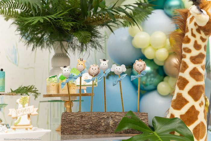 Jungle/Safari Animal Cake Pops from a Modern Jungle Birthday Party on Kara's Party Ideas | KarasPartyIdeas.com (16)
