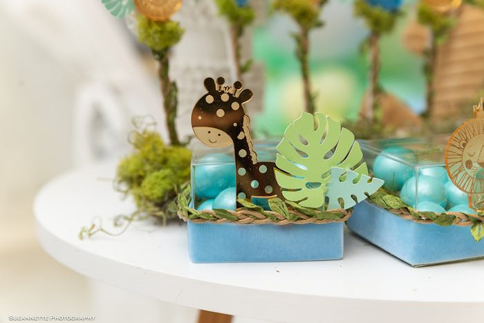 Jungle Animal Candy Favor Box from a Modern Jungle Birthday Party on Kara's Party Ideas | KarasPartyIdeas.com (14)