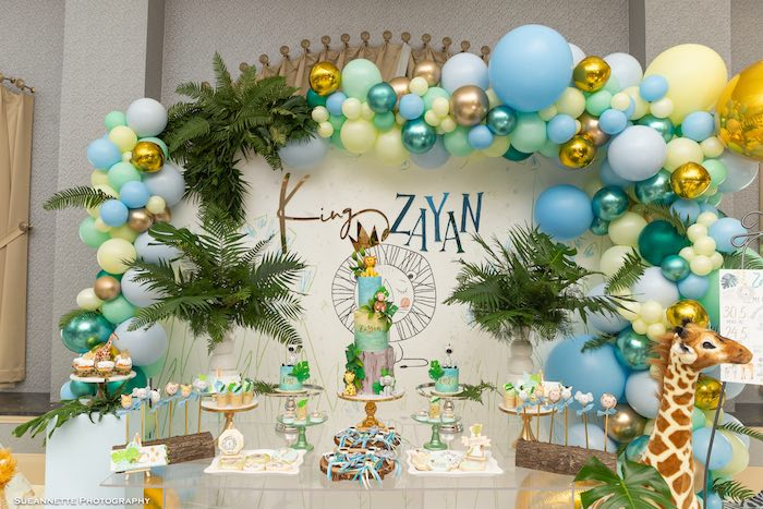Modern Jungle Birthday Party on Kara's Party Ideas | KarasPartyIdeas.com (12)