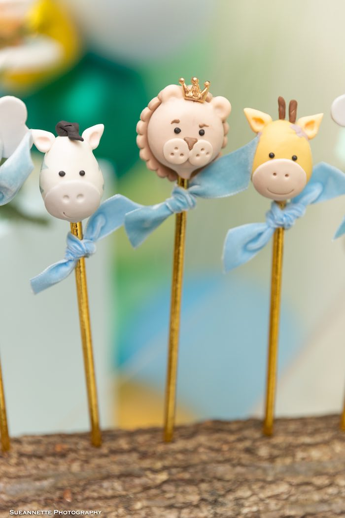 Safari Animal Cake Pops from a Modern Jungle Birthday Party on Kara's Party Ideas | KarasPartyIdeas.com (10)