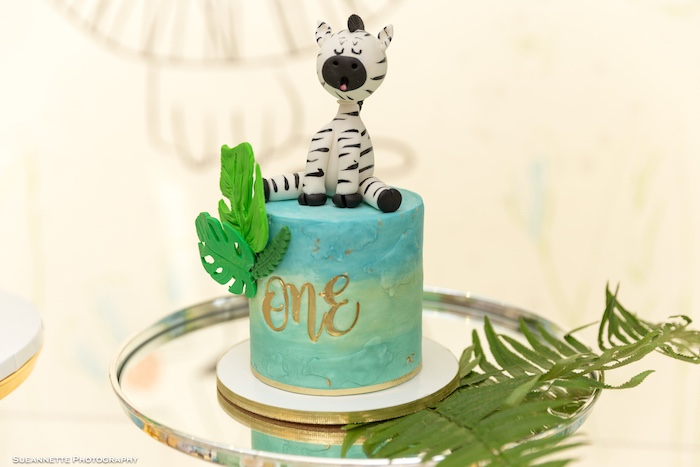 Zebra Cake from a Modern Jungle Birthday Party on Kara's Party Ideas | KarasPartyIdeas.com (30)