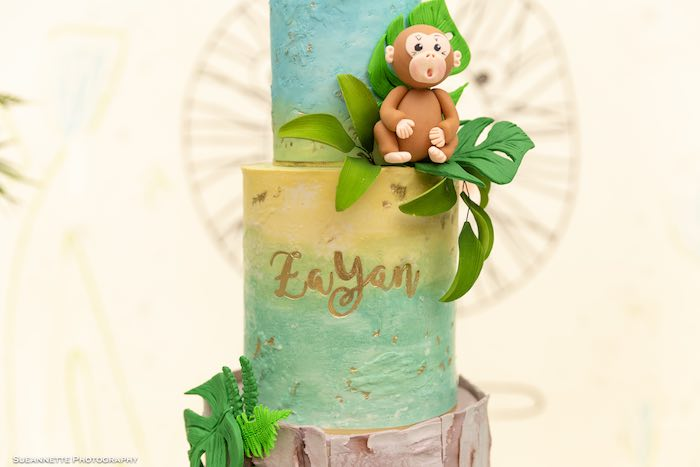 Jungle Cake from a Modern Jungle Birthday Party on Kara's Party Ideas | KarasPartyIdeas.com (27)