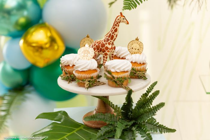 Jungle Cupcakes from a Modern Jungle Birthday Party on Kara's Party Ideas | KarasPartyIdeas.com (26)