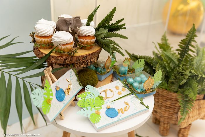 Jungle Themed Candy Bar Wrappers from a Modern Jungle Birthday Party on Kara's Party Ideas | KarasPartyIdeas.com (24)