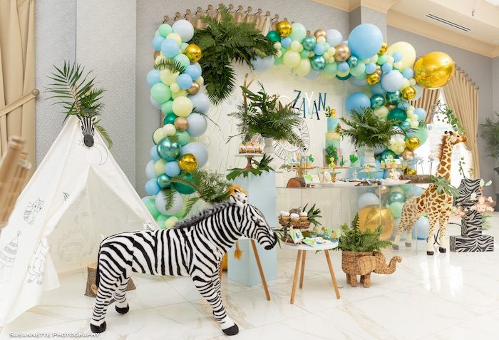 Modern Jungle Birthday Party on Kara's Party Ideas | KarasPartyIdeas.com (23)