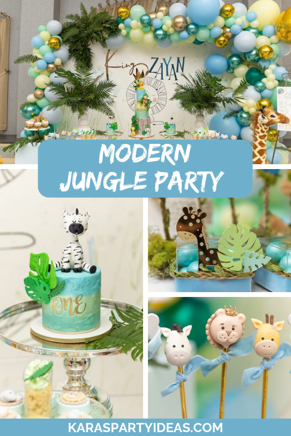 Modern Jungle Party via Kara's Party Ideas - KarasPartyIdeas.com