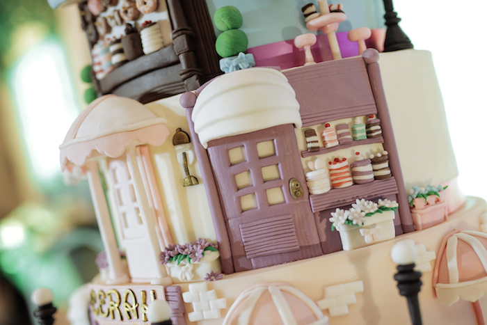 Paris Cake - Cake Detail from a Paris Patisserie Birthday Party on Kara's Party Ideas | KarasPartyIdeas.com (13)