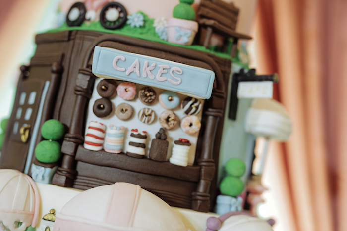 Cake Detail from a Paris Patisserie Birthday Party on Kara's Party Ideas | KarasPartyIdeas.com (12)