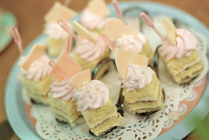 Layered Cake Bites from a Paris Patisserie Birthday Party on Kara's Party Ideas | KarasPartyIdeas.com (7)