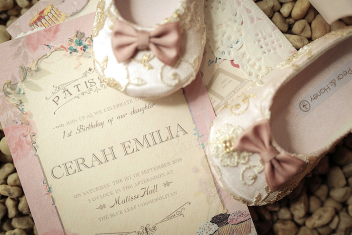 Party Invite from a Paris Patisserie Birthday Party on Kara's Party Ideas | KarasPartyIdeas.com (5)