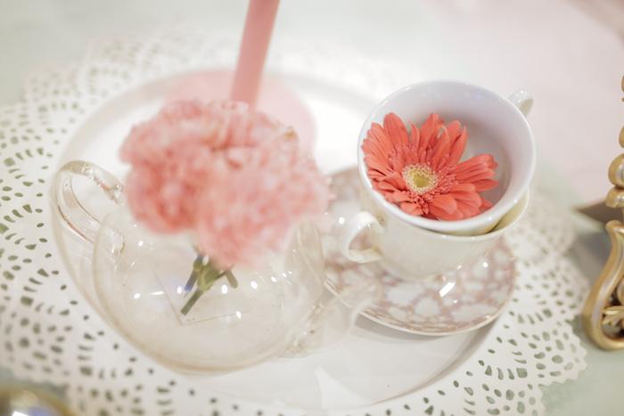 Tea Cup Blooms + Centerpiece Paris Patisserie Birthday Party on Kara's Party Ideas | KarasPartyIdeas.com (30)