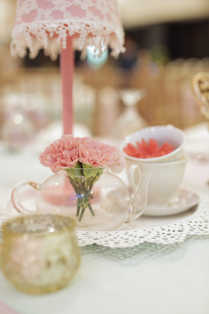 Tea Cup Bloom Centerpiece from a Paris Patisserie Birthday Party on Kara's Party Ideas | KarasPartyIdeas.com (29)
