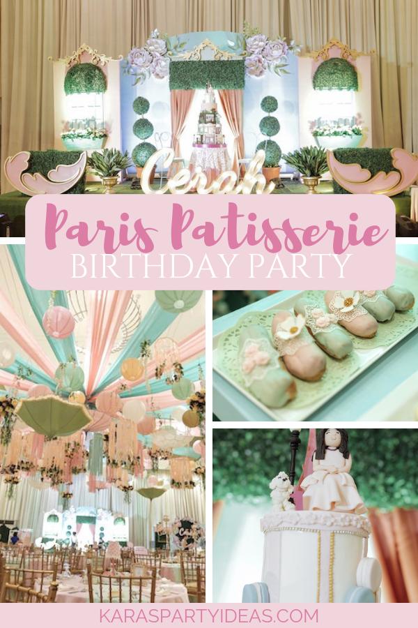 Paris Patisserie Birthday Party via Kara's Party Ideas - KarasPartyIdeas.com