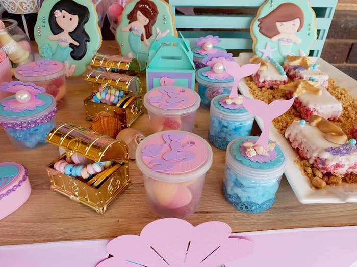 Under the Sea Party Favors from a Pastel Mermaid Birthday Party on Kara's Party Ideas | KarasPartyIdeas.com (8)