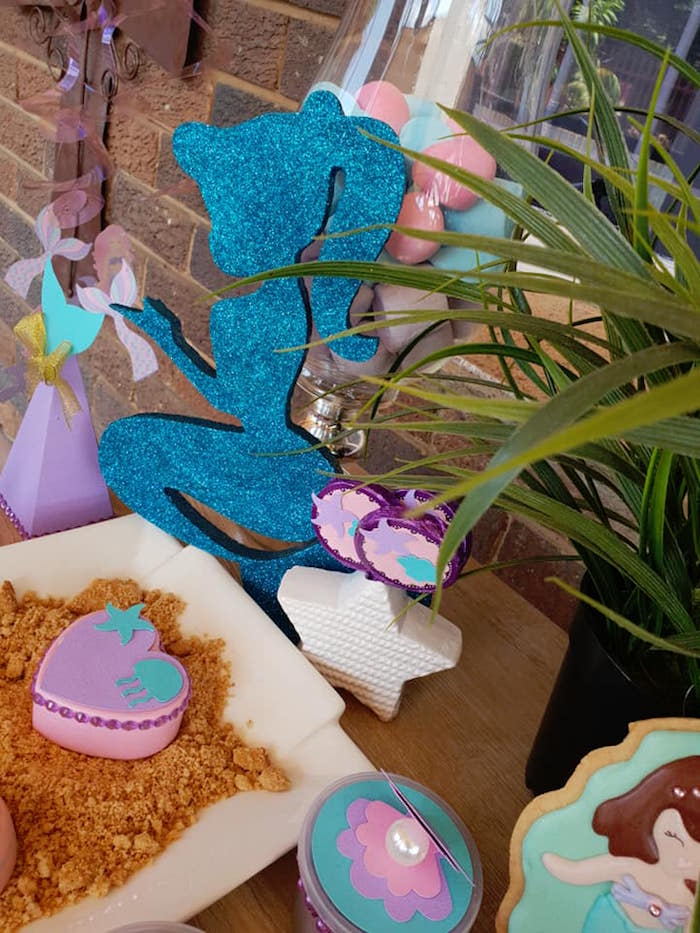 Glitter Mermaid from a Pastel Mermaid Birthday Party on Kara's Party Ideas | KarasPartyIdeas.com (20)