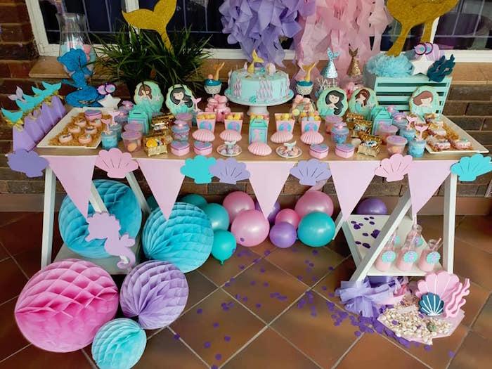 Pastel Mermaid Birthday Party on Kara's Party Ideas | KarasPartyIdeas.com (18)
