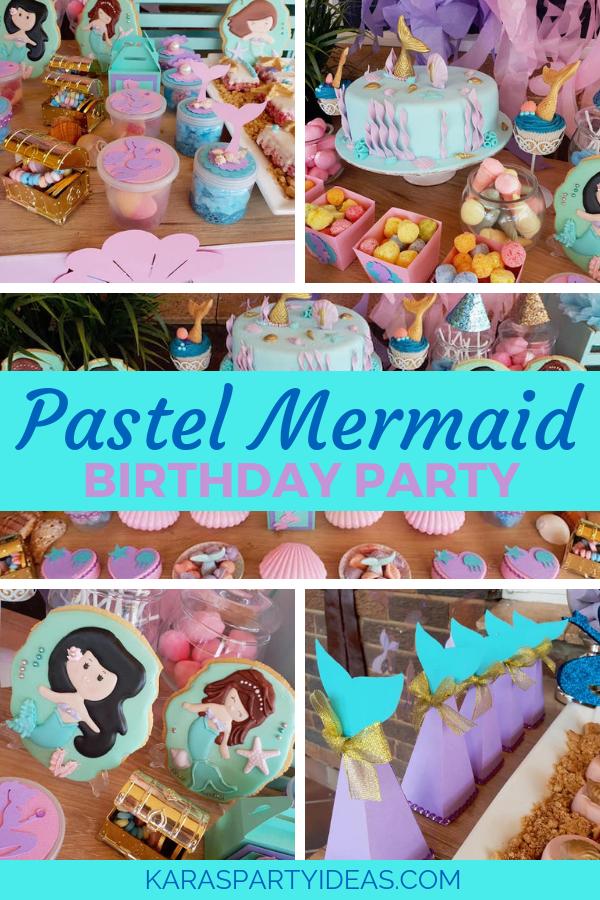 Pastel Mermaid Birthday Party via Kara's Party Ideas - KarasPartyIdeas.com