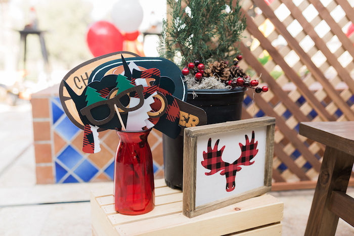 Photo Props from a Rustic Camping Birthday Party on Kara's Party Ideas | KarasPartyIdeas.com (31)