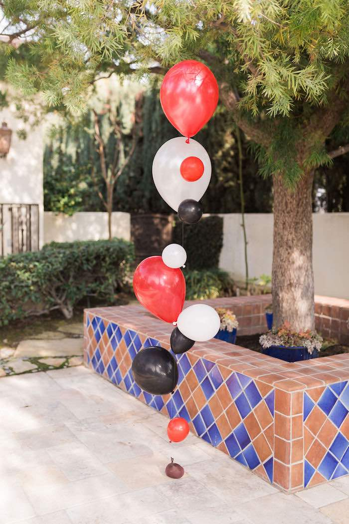 Red + Black + White Ballon Installation from a Rustic Camping Birthday Party on Kara's Party Ideas | KarasPartyIdeas.com (26)