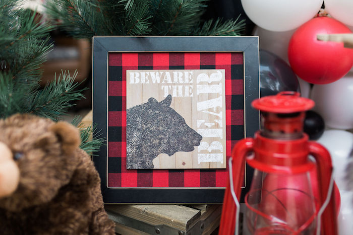 Beware The Bear Print from a Rustic Camping Birthday Party on Kara's Party Ideas | KarasPartyIdeas.com (21)