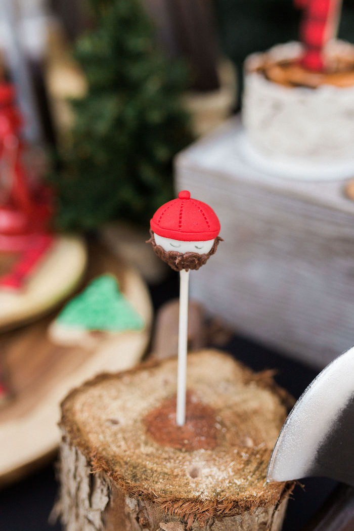Lumberjack Cake Pop from a Rustic Camping Birthday Party on Kara's Party Ideas | KarasPartyIdeas.com (14)