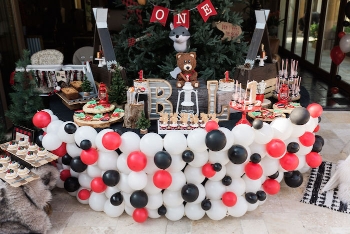 Wild One Camping Themed Dessert Table from a Rustic Camping Birthday Party on Kara's Party Ideas | KarasPartyIdeas.com (44)