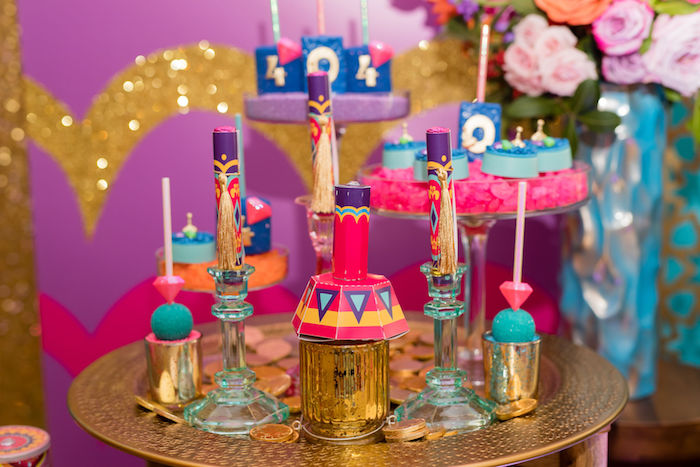 Arabian Themed Sweet Table from a Shimmer and Shine Arabian Princess Birthday Party on Kara's Party Ideas | KarasPartyIdeas.com (24)