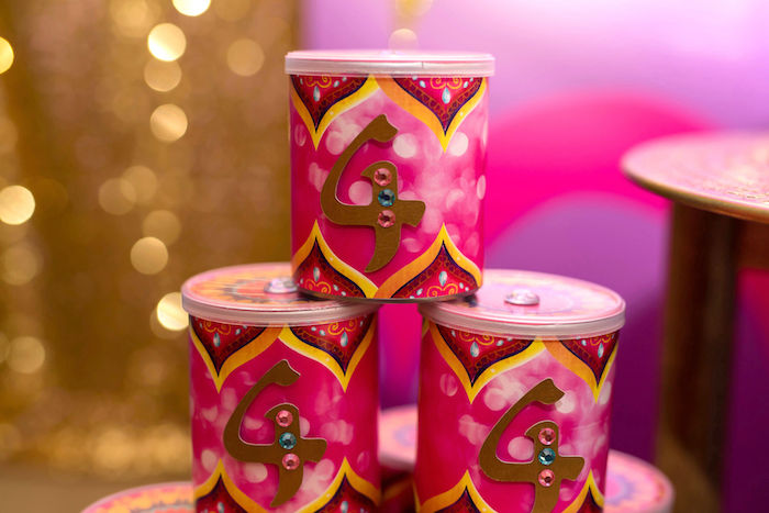 Arabian Favor Tubes from a Shimmer and Shine Arabian Princess Birthday Party on Kara's Party Ideas | KarasPartyIdeas.com (23)