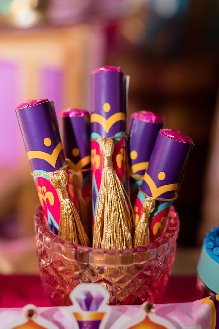 Scrolls from a Shimmer and Shine Arabian Princess Birthday Party on Kara's Party Ideas | KarasPartyIdeas.com (22)
