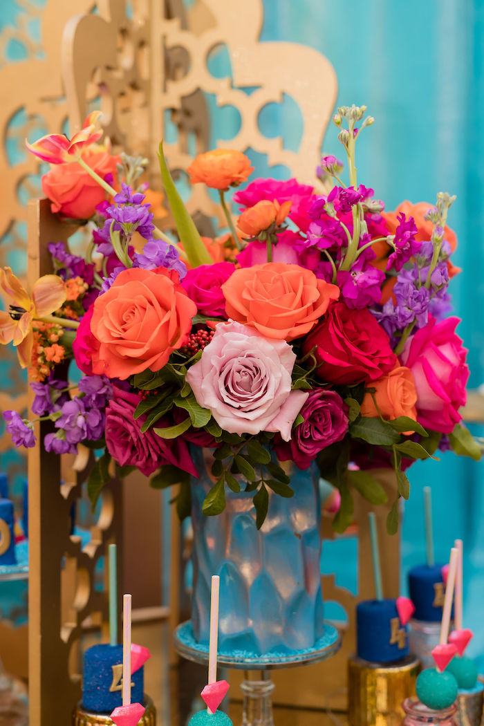 Arabian Flowers from a Shimmer and Shine Arabian Princess Birthday Party on Kara's Party Ideas | KarasPartyIdeas.com (21)