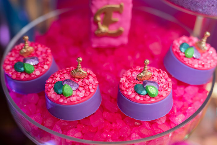 Treasured Jewel Oreos from a Shimmer and Shine Arabian Princess Birthday Party on Kara's Party Ideas | KarasPartyIdeas.com (20)