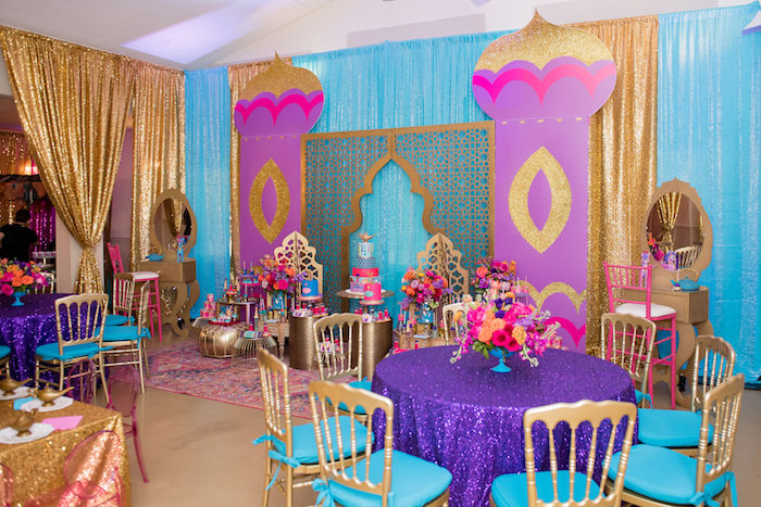 Arabian Castle Dessert Spread from a Shimmer and Shine Arabian Princess Birthday Party on Kara's Party Ideas | KarasPartyIdeas.com (38)