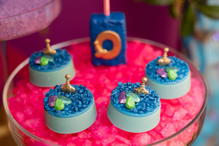 Treasured Jewel Oreos from a Shimmer and Shine Arabian Princess Birthday Party on Kara's Party Ideas | KarasPartyIdeas.com (18)