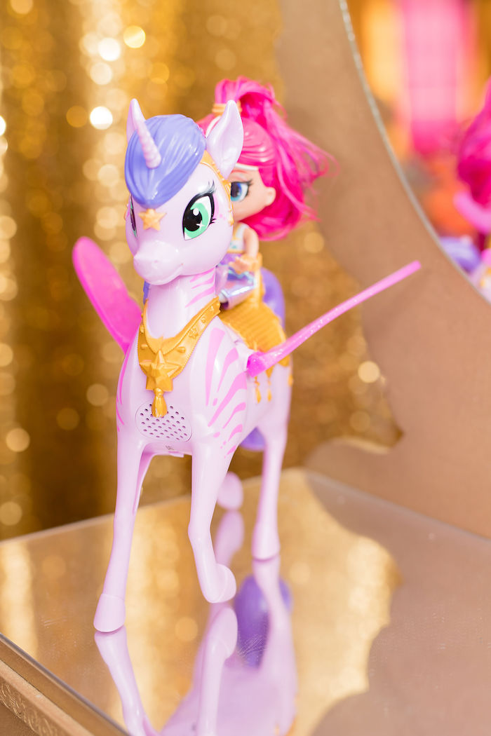 Arabian Unicorn Prop from a Shimmer and Shine Arabian Princess Birthday Party on Kara's Party Ideas | KarasPartyIdeas.com (16)