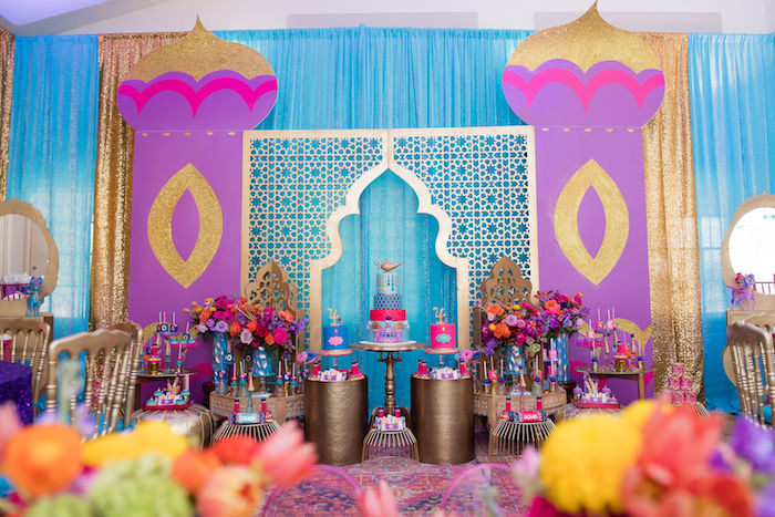 Arabian Castle Dessert Spread from a Shimmer and Shine Arabian Princess Birthday Party on Kara's Party Ideas | KarasPartyIdeas.com (37)