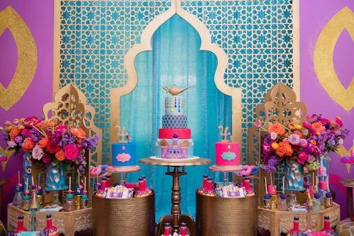 Arabian Shimmer Shine Cakes From A And Princess Birthday Party On