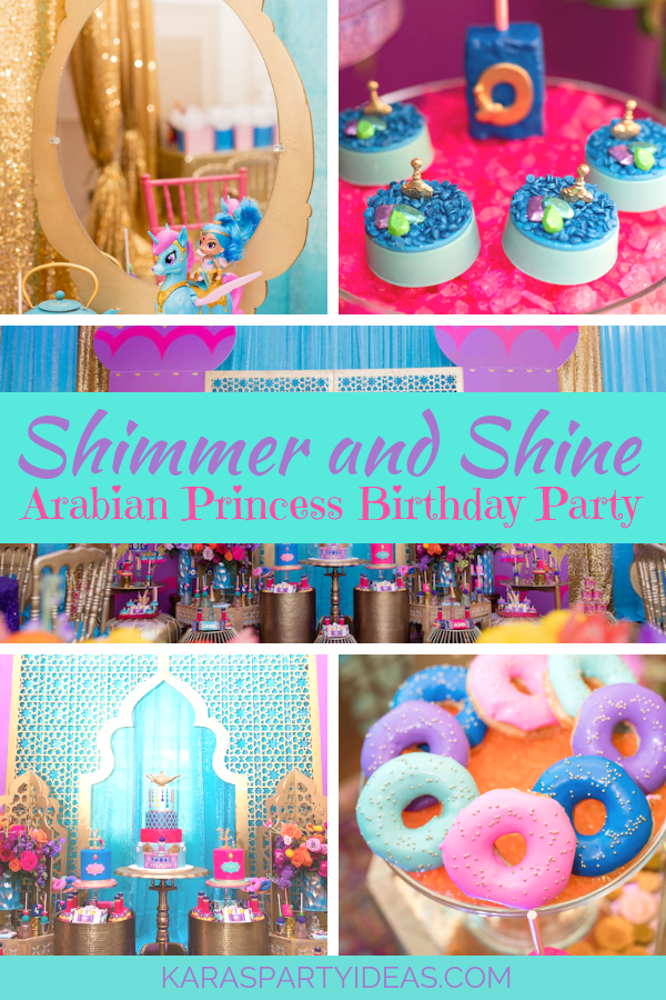 Shimmer and Shine Arabian Princess Birthday Party via Kara's Party Ideas - KarasPartyIdeas.com