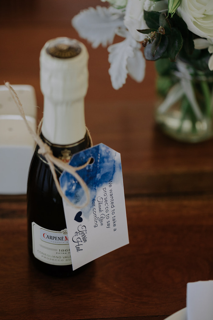 Wine Favor Bottle from a Timeless & Elegant Mountain Wedding on Kara's Party Ideas | KarasPartyIdeas.com (32)
