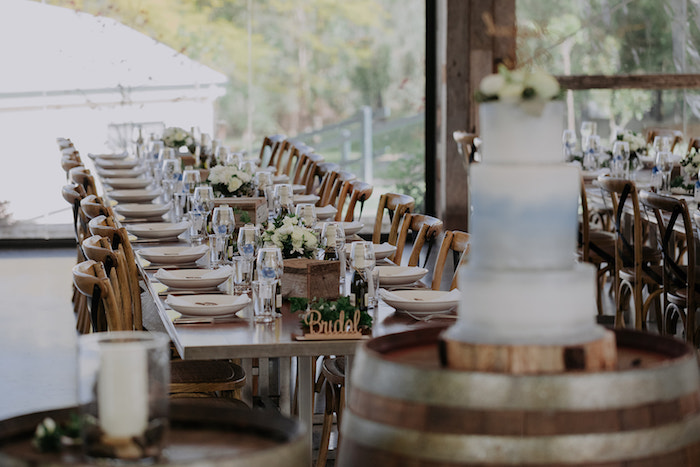 Guest Table from a Timeless & Elegant Mountain Wedding on Kara's Party Ideas | KarasPartyIdeas.com (28)