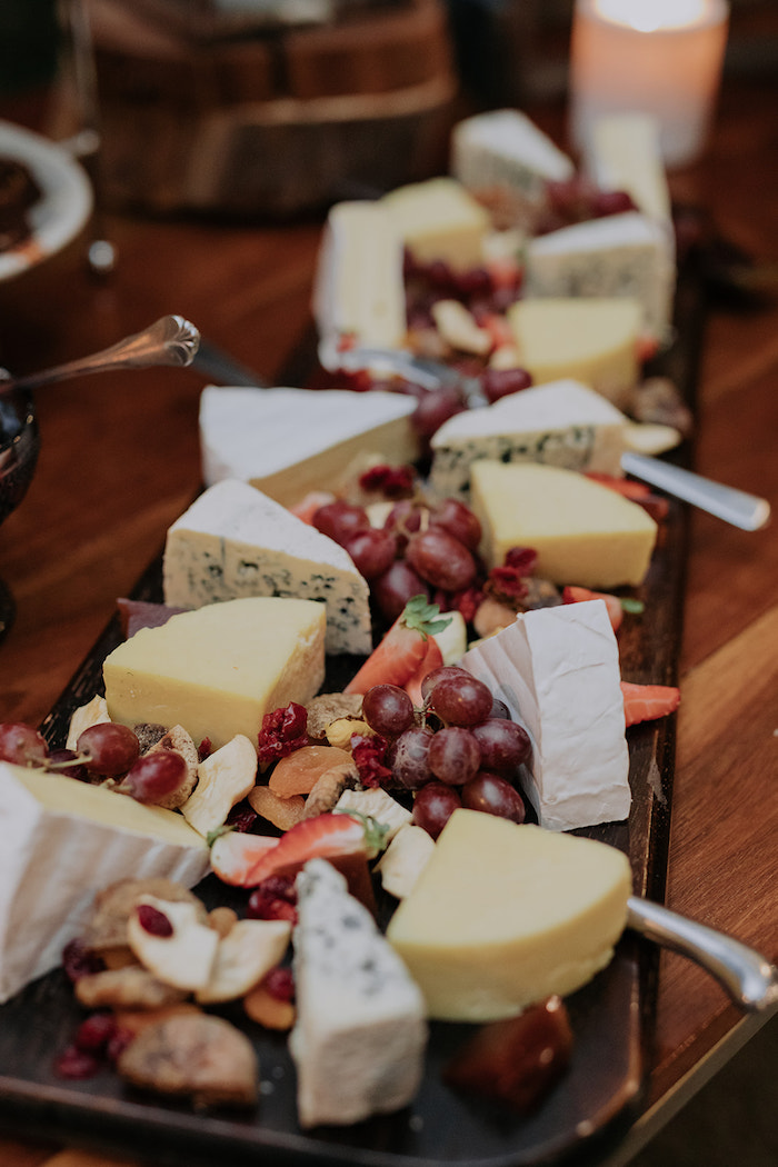 Fruit & Cheese Board from a Timeless & Elegant Mountain Wedding on Kara's Party Ideas | KarasPartyIdeas.com (20)