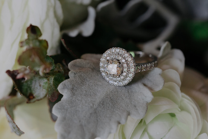 Diamond Wedding Ring from a Timeless & Elegant Mountain Wedding on Kara's Party Ideas | KarasPartyIdeas.com (42)