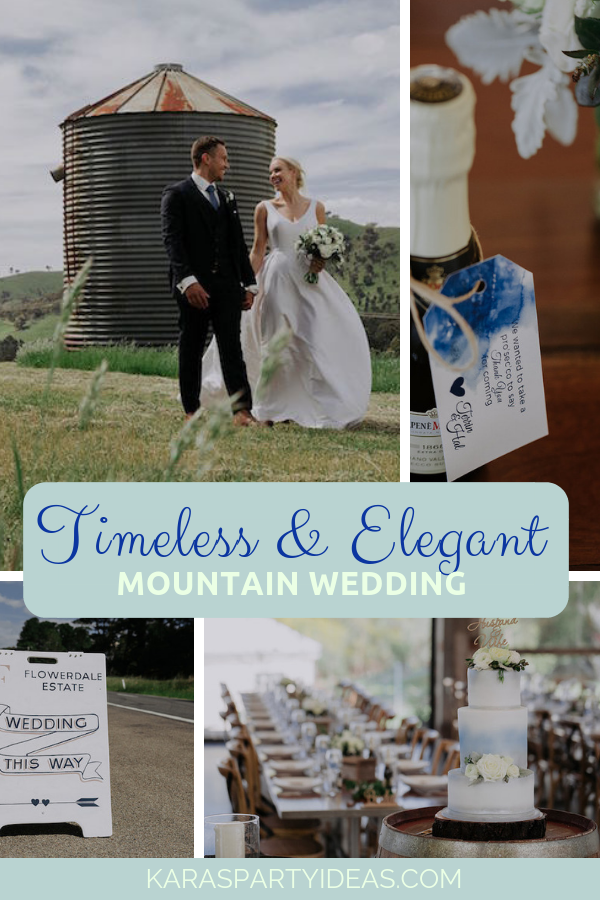 Timeless Elegant Mountain Wedding via Kara's Party Ideas - KarasPartyIdeas.com